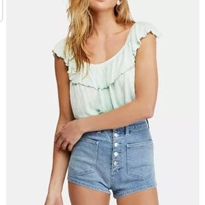Free People Cora Lee Off-The-Shoulder Top M